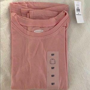 Pink toddler long sleeve shirt
